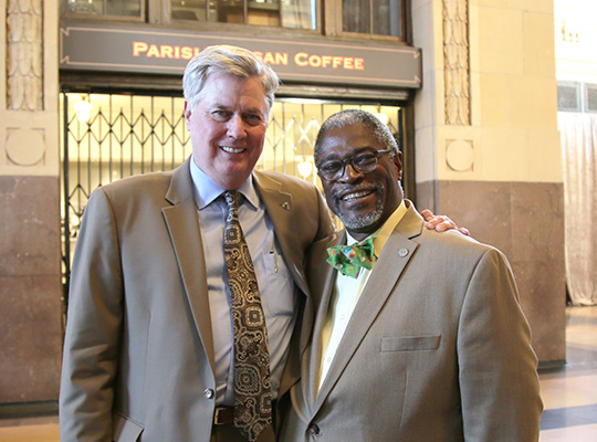 SIOR John Stacy with KC Mayor Sly James